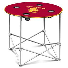 USC University of Southern California Trojans Round Table Folding Tailgate