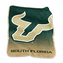 University of South Florida Bulls Raschel Throw Blanket