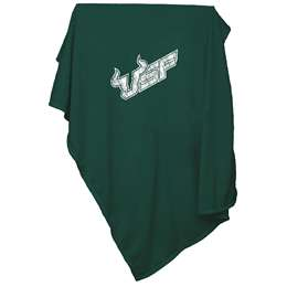 University of South Florida Bulls Sweatshirt Blanket Screened Print