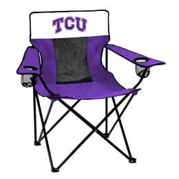TCU Texas Christian University Horned Frogs Elite Folding Chair with Carry Bag