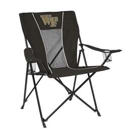 Wake Forest University Deamon Deacons Game Time Chair Folding Tailgate