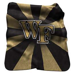 Wake Forest University Deamon Deacons Raschel Throw Blanket