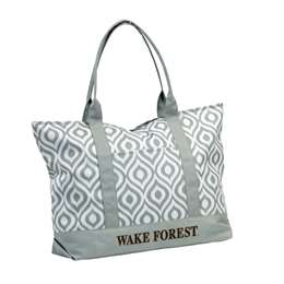 Wake Forest University Deamon Deacons Ikat Tote Bag