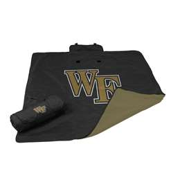 Wake Forest University Deamon Deacons All Weather Stadium Blanket
