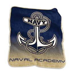 US Naval Academy Raschel Thorw Blanket 60 X 50 Inches