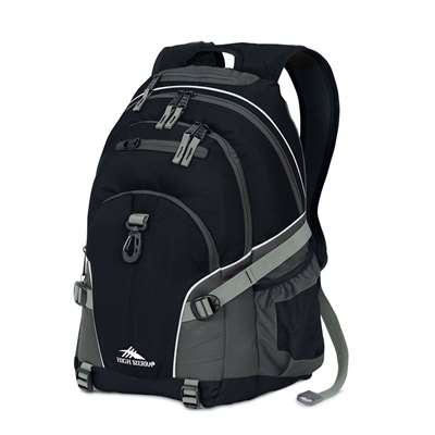High Sierra Backpack Loop Black/Charcoal/Ash