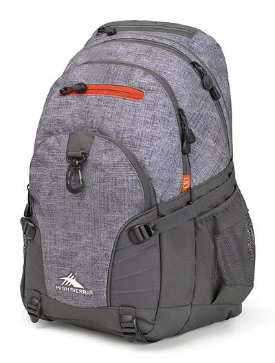 High Sierra Loop Daypack Backpack WOOLLY WEAVE/MERCURY/CRIMSON