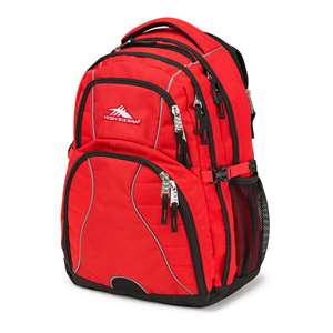High Sierra Backpack Swerve Daypack Crimson/Black