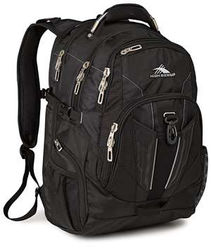 High Sierra TSA Backpack Black
