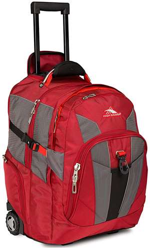 High Sierra Wheeled Backpack Carmine/Red Line/Black
