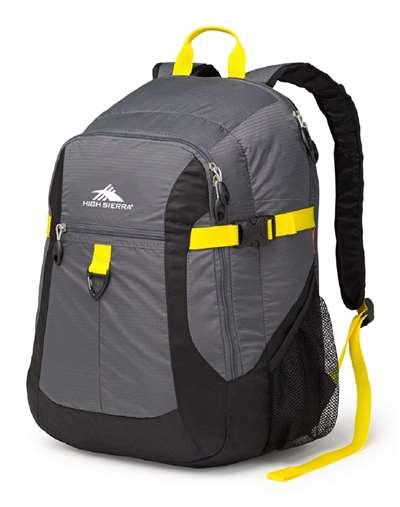 High Sierra COMPUTER BACKPACK GREY/MERCURY/BLACK/SUNFLOWER