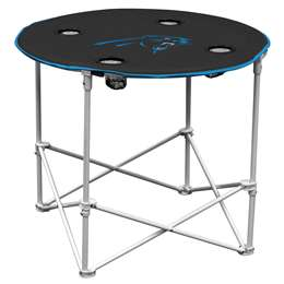 Carolina Panthers Round Folding Table with Carry Bag