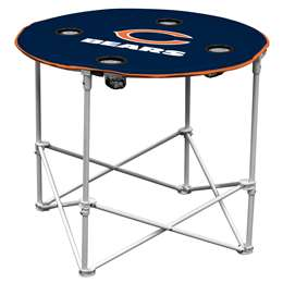 Chicago Bears Round Folding Table with Carry Bag