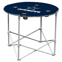 Dallas Cowboys Round Folding Table with Carry Bag