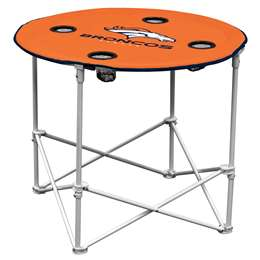Denver Broncos Round Folding Table with Carry Bag