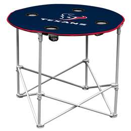 Houston Texans Round Folding Table with Carry Bag