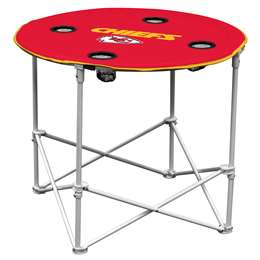 Kansas City Chiefs Round Folding Table with Carry Bag