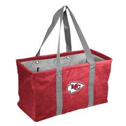 Kansas City Chiefs Crosshatch Picnic Tailgate Caddy Tote Bag