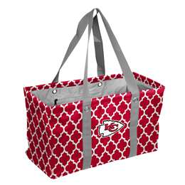 Kansas City Chiefs Quatrefoil Picnic Caddy