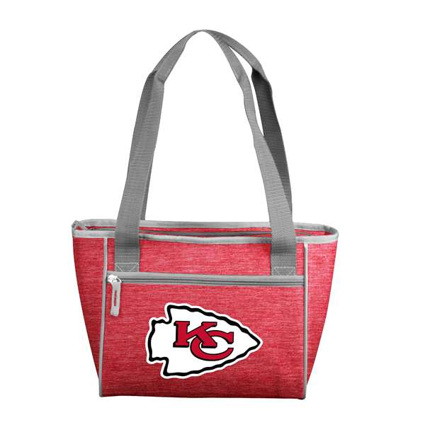 Kansas City Chiefs Crosshatch 16 Can Cooler Tote 83 - 16 Cooler Tote