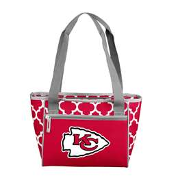 Kansas City Chiefs Quatrefoil 16 Can Cooler Tote
