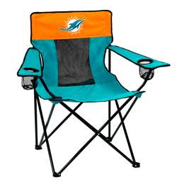 Miami Dolphins Elite Folding Chair with Carry Bag
