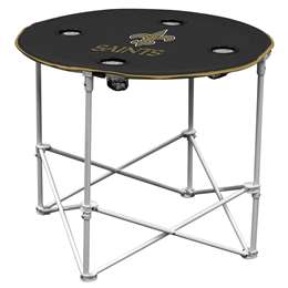 New Orleans Saints Round Folding Table with Carry Bag