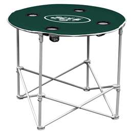 New York Jets Round Folding Table with Carry Bag