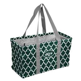 New York JetsCrosshatch Picnic Tailgate Caddy Tote Bag