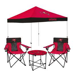 Tampa Bay Buccaneers Tailgate Bundle - Set Includes 9X9 Canopy, 2 Chairs and 1 Side Table