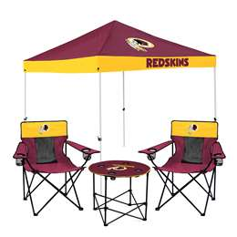Washington Football Team Tailgate Bundle - Set Includes 9X9 Canopy, 2 Chairs and 1 Side Table