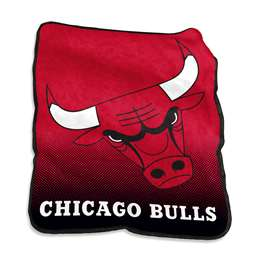 Chicago Bulls- 26 Raschel Throw Fleece Blanket