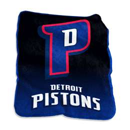 Detroit Pistons 26 Raschel Throw Fleece Blanket