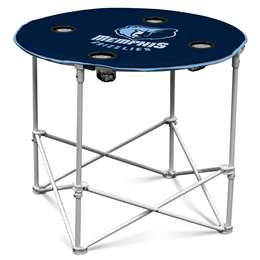 Memphis Grizzlies  Round Table Folding Tailgate Camping