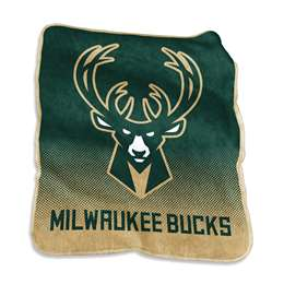 Milwaukee Bucks Raschel Throw Fleece Blanket