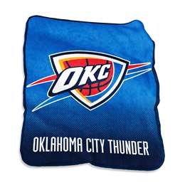 Oklahoma City Thunder  26 Raschel Throw Fleece Blanket
