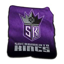 Sacramento Kings Raschel Throw Fleece Blanket
