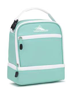 High Sierra Stacked Compartment Lunch Bag Tote AQUAMARINE/WHITE