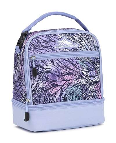 High Sierra Stacked Compartment Lunch Bag Tote FEATHER SPECTRE/POWDER BLUE