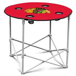 Chicago Blackhawks Round Folding Table with Carry Bag