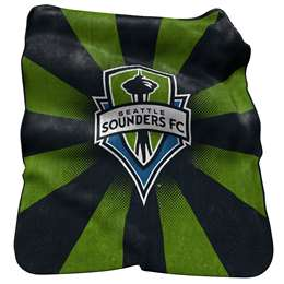 Seattle Sounders Raschel Throw Fleece Blanket