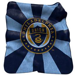 Philadelphia Union  26 Raschel Throw Fleece Blanket