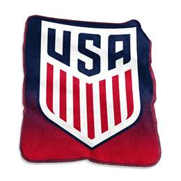USSF United States Soccer Federation 26A Raschel Throw Fleece Blanket
