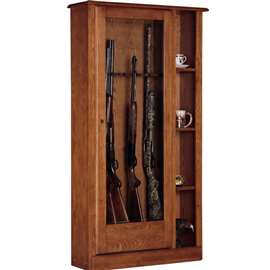 American Furniture Classics Model 725, 10 Gun/Curio Cabinet Combination