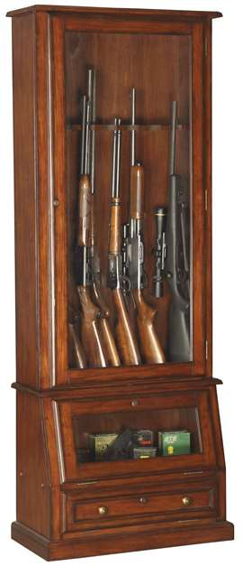 American Furniture Classics Model 898, 12 Gun Slanted Base Cabinet