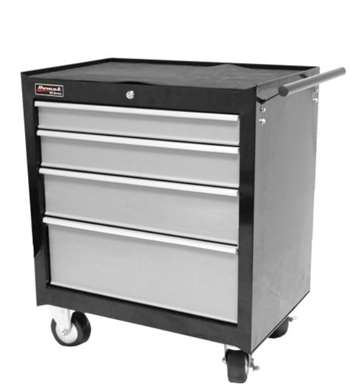 HOMAK 27-Inch SE Series Tool Cabinet 2-Drawer Mid-Chest - Black/Gray