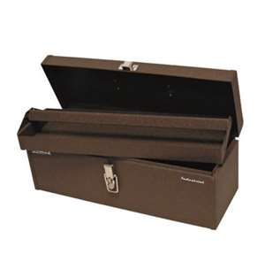 Homak Industrial 20-Inch Tool Tote Steel Toolbox, Brown Winkle Powder Coat