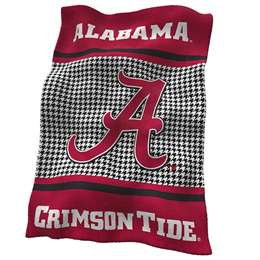 University of Alabama Crimson Tide HoundstoothUltrasoft Plush Blanket 84 X 54 Inches