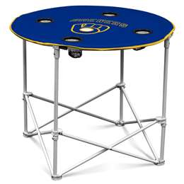 Milwaukee Brewers Round Table Folding Tailgate Camping Table