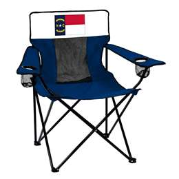 State of North Carolina Flag Elite Folding Chair with Carry Bag